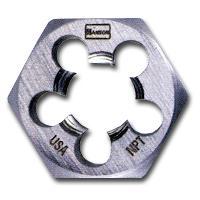 Hanson HAN7005 High Carbon Steel Hexagon Taper Pipe 1-7/16 Inch Across Flat Die 1/2 Inch-14 NPT