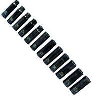 K Tool International KTI38200 12 Piece 1/2 Inch Drive Metric Deep Impact Socket Set
