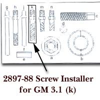 KD Tools KDT2897-88 Screw Installer for GM 3.1 for KDT2897