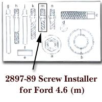 KD Tools KDT2897-89 Screw Installer for Ford 4.6 for KDT2897
