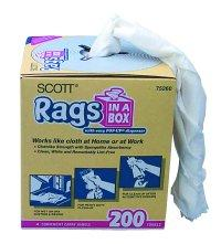 Kimberly Clark KIM75260 10 x 14 Inch Scott Rags In A Box - Box of 200