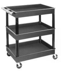 Luxor LUXTC111 3 Shelf Plastic Service Cart
