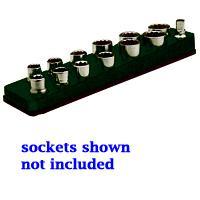 Mechanics Time Saver MTS712 3/8 Inch Drive Magnetic Black Socket Holder 5.5-22mm