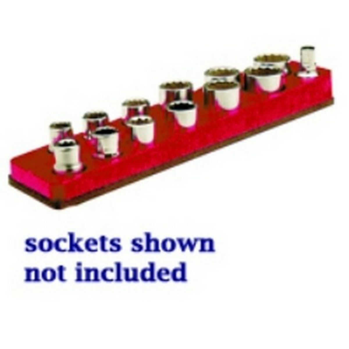Mechanics Time Saver MTS713 3/8 Inch Drive Magnetic Rocket Red Socket Holder 5.5-22mm