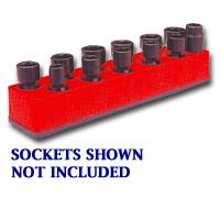 Mechanics Time Saver MTS981 3/8 Inch Drive Universal Red 11 Hole Impact Socket Holder 9-19mm