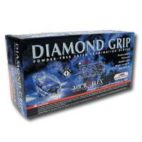 Micro Flex MFXMF300L Large Diamond Grip Gloves - 100 Per Box