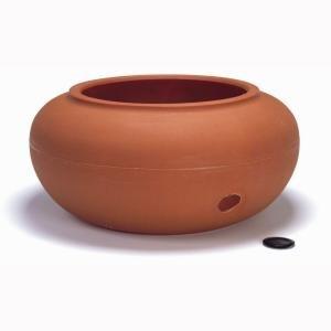 Dillen Products 21 in. Hose Pot Terra Cotta Hose Reel, Hose Cart, Hose Holder, Hose Butler, Hose Hider, Hose Pot, Hose Stand, Hose Hanger