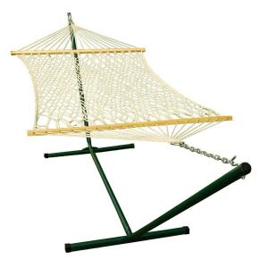 Algoma 12 ft. Steel Stand and 11 ft. Rope Hammock Combination