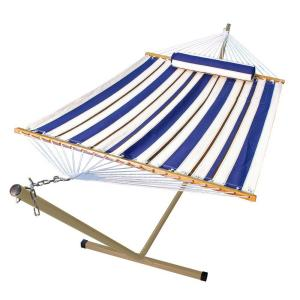 Algoma 12 ft. Steel Stand and 11 ft. Fabric Hammock with Matching Pillow