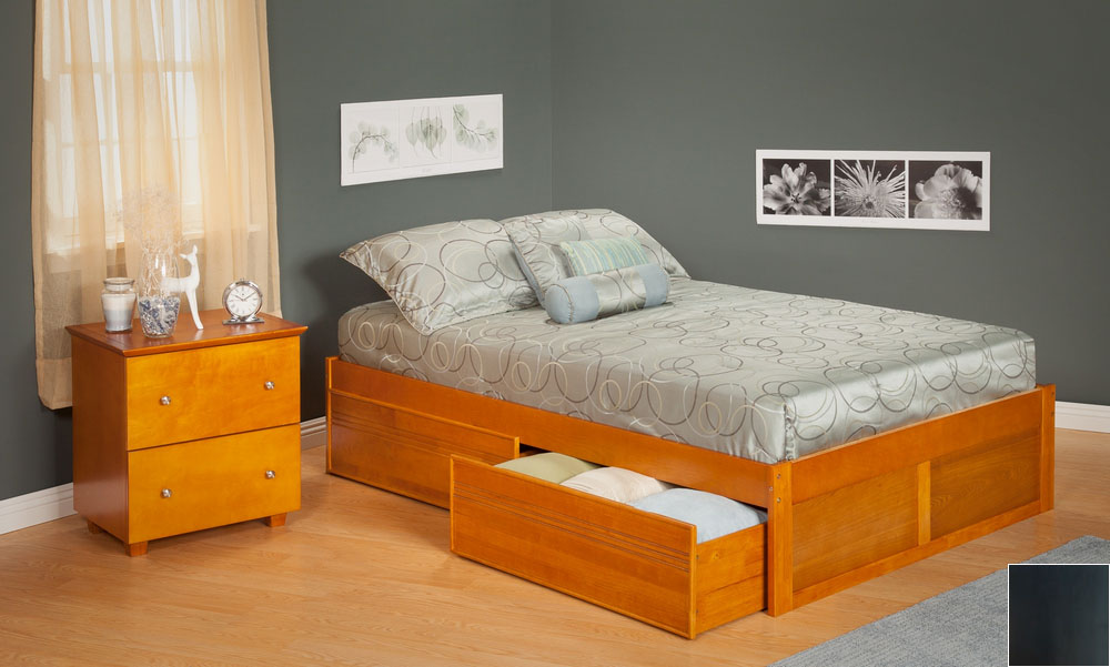 Urban Concord Full Size with Flat Panel Foot Board and Urban Bed Drawers in an Espresso Finish