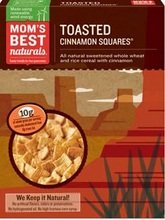 Moms Best Naturals B20832 Moms Best Toasted Cinnamon Squares Cereal -14x17.5oz