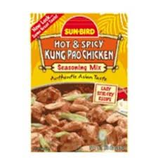 Sunbird B85782 Sunbird Hot and Spicy Kung Pao Chicken Seasoning Mix -24x0.88 Oz