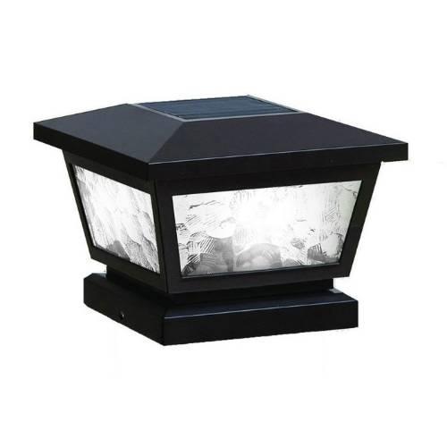Classy Caps FS100B BLACK FAIRMONT SOLAR POST CAP 5X5-4X4-3.5X3.5 - Black