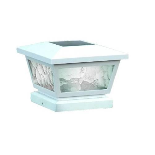 Classy Caps FS100W WHITE FAIRMONT SOLAR POST CAP 5X5-4X4-3.5X3.5 - White