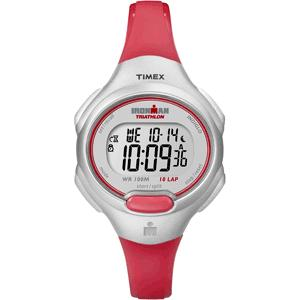 Timex Ironman 10-Lap Mid-Size - Bright Red-Silver