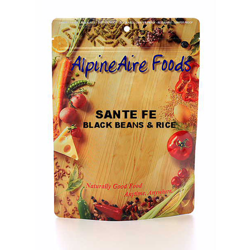 Alpine Aire Foods 10112 SantaFeBlkBeans&Rice Serves2