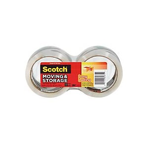 3m 3650-2 3m 3650-2 1.88 in. X 163 ft. Long Lasting Moving & Storage Scotch Packaging Tape 2 Cou