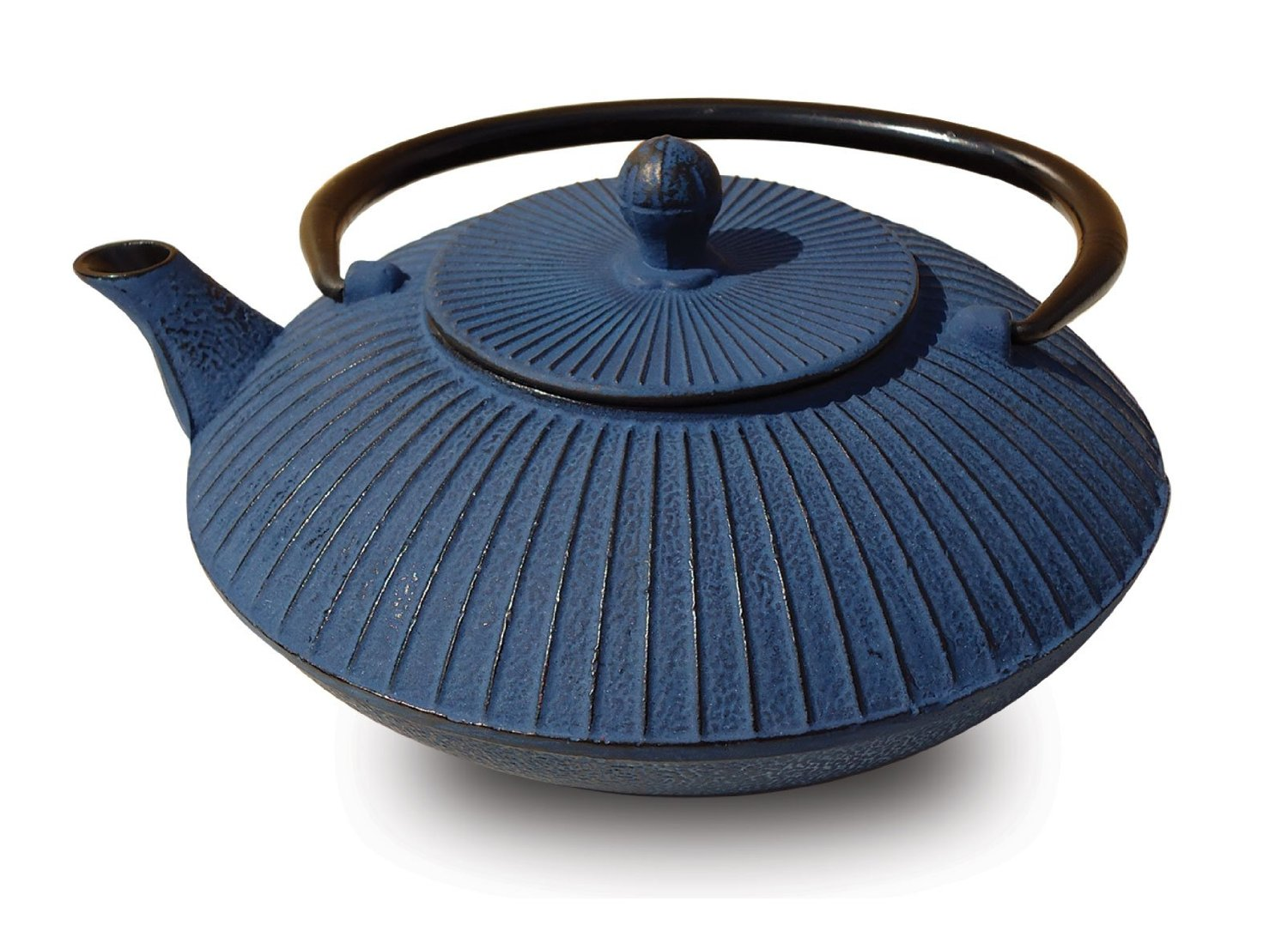 Old Dutch 046BL Blue Cast Iron Fidelity Teapot  27 Oz.