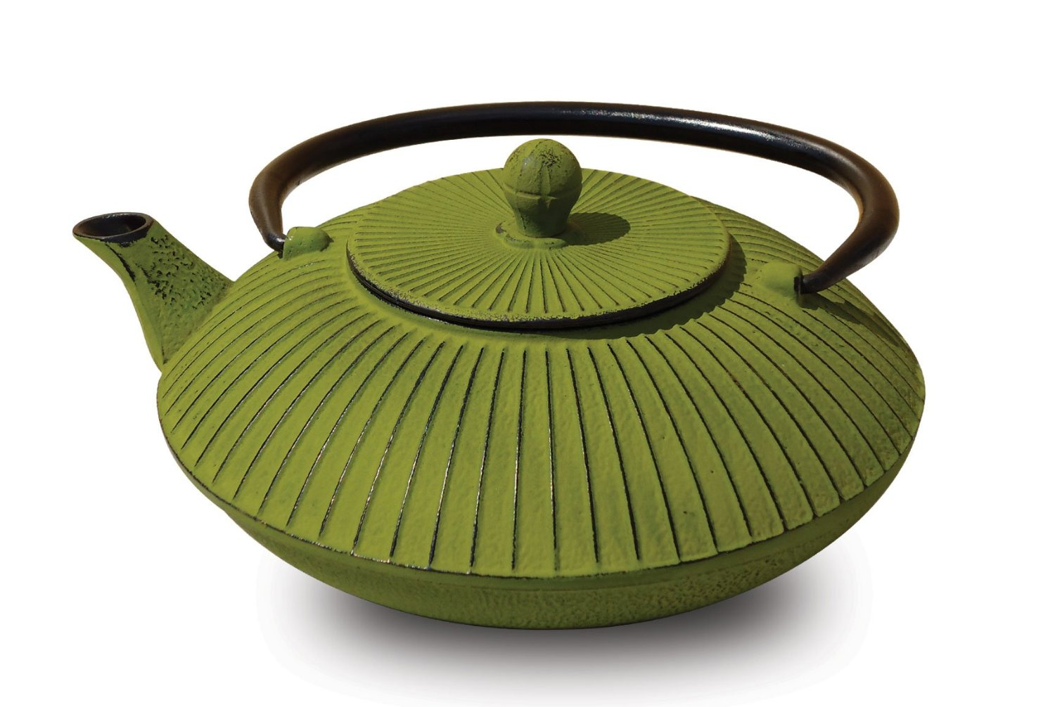 Old Dutch 046MO Moss Green Cast Iron Fidelity Teapot  27 Oz.