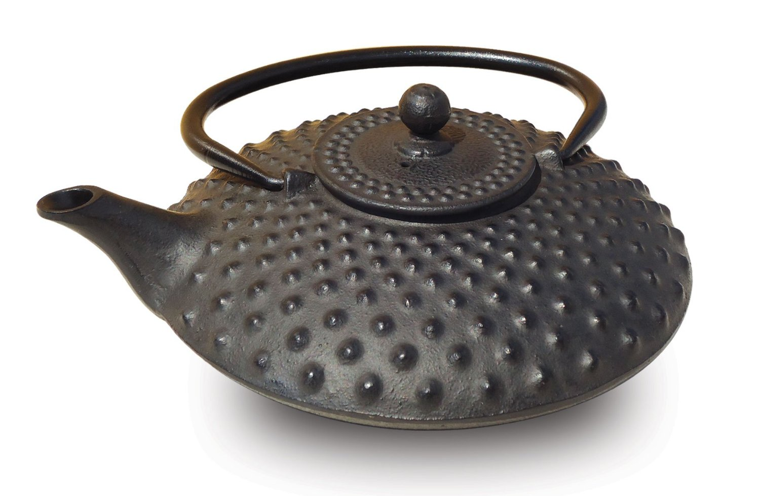 Old Dutch 047MB Matte Black Cast Iron Amity Teapot  26 Oz.