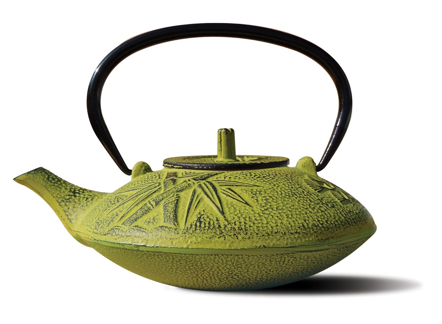 Old Dutch 1010MO Moss Green Cast Iron Sakura Teapot  37 Oz.