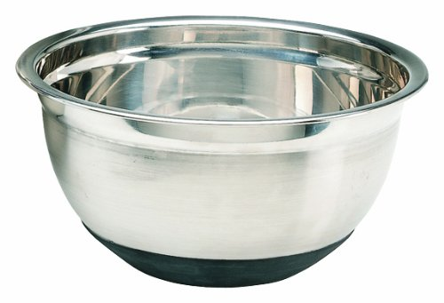 Crestware MBR08 8 Quart Stainless Steel Mixing Bowl with Rubber Base
