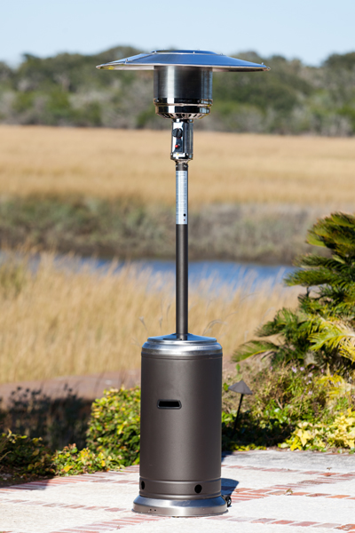 Well Traveled 61287 Mocha and Stainless Steel Standard Series Patio Heater