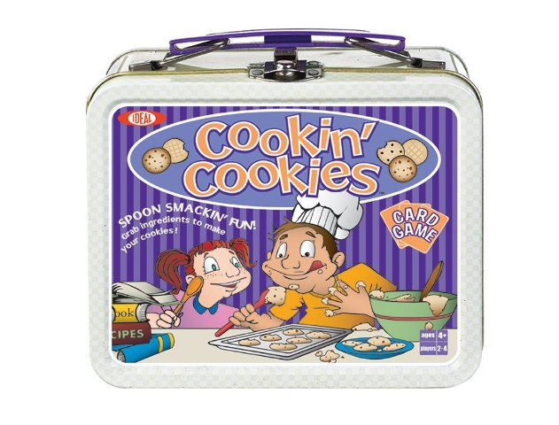 POOF-Slinky 0X4261 Ideal Cookin Cookies Card Game with Mini Collectible Tin Lunch Box Storage Container  32-Colorfully Illustrated Cards