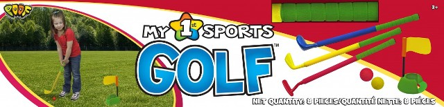 POOF-Slinky 780BL POOF My 1st Sports Golf Set with Padded Foam Clubs and Balls POOF307