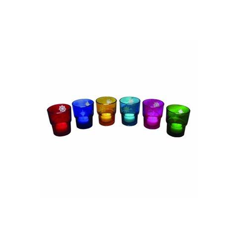 Amber Home Goods Set of 6 Square Glass Votive - ANC-807