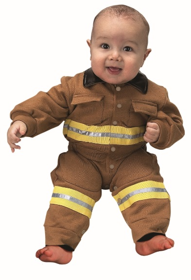 Aeromax FFT-ROMP Jr. Fire Fighter Suit  size 6 to 12 Months - tan