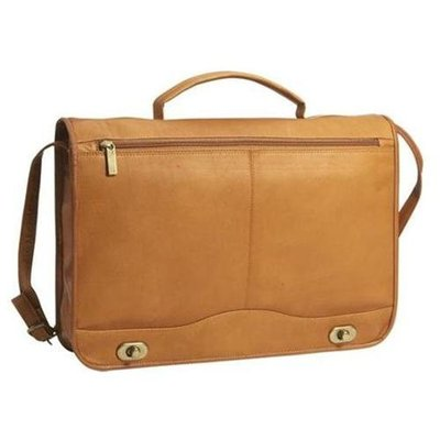 David King & Co 177T Full Flap Turnlock Briefcase - Tan