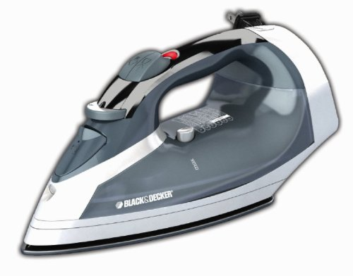 Black & Decker ICR05X Cord Reel Non-Stick Steam Surge Iron