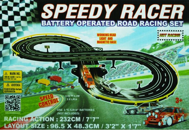 Golden Bright 6023 B-O Speed Racer Roard Racing Set