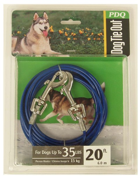 Boss Pet Products Q2320 000 99 20 ft. Blue Medium Dog Tie Out