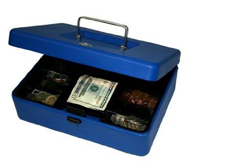 8 in. Blue Cash Box