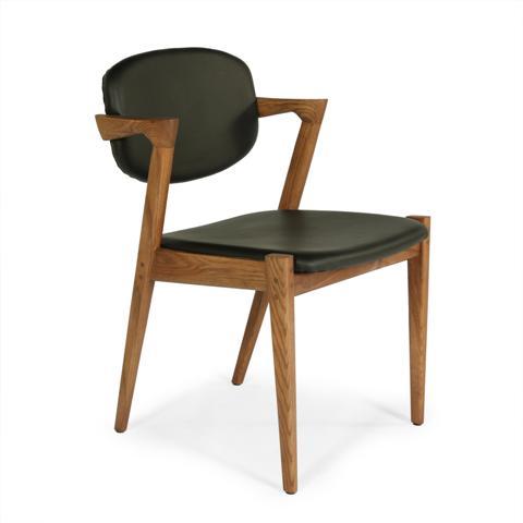 Kirch FEC7629LBLK The Levanger Arm Chair - Black