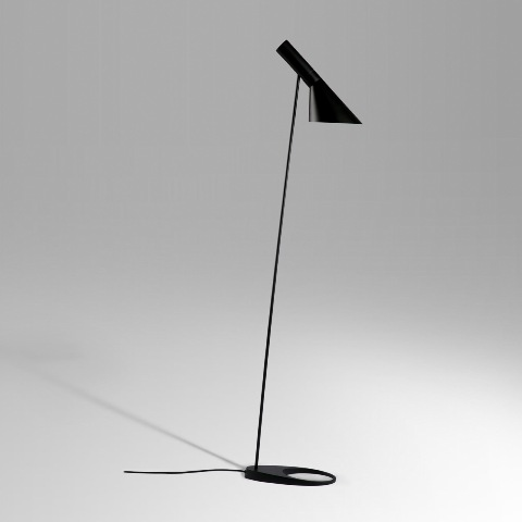 Kirch LBF002BLACK AJ Floor Lamp - Black