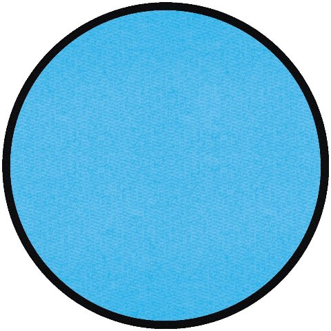 Learning Carpets CPR 552 Solid Light Blue - Round Rug