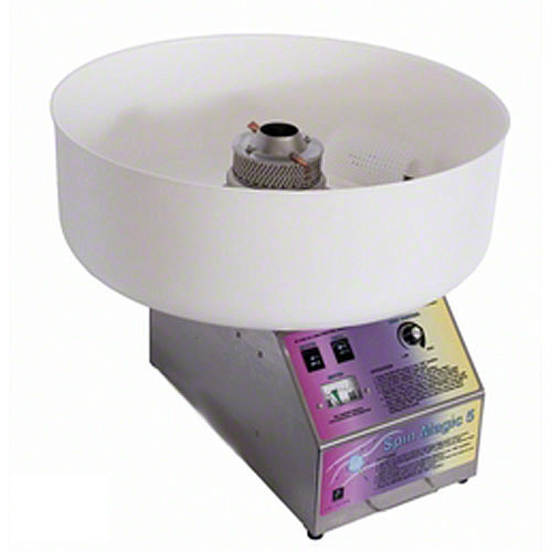 Paragon - Manufactured Fun 7150300 Spin Magic 5 Cotton Candy Machine with Plastic Bowl