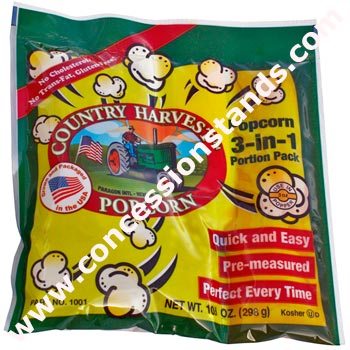 Paragon - Manufactured Fun 1001 Country Harvest 8 oz Tri-Pack Popcorn - 24 Pack Regular Case