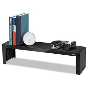 Fellowes  Inc. The Fellowes Designer Suites Shelf Maximizes Desktop Space With A Space-saving V