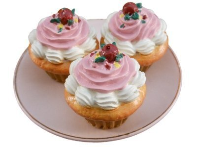 The Queens Treasures AGCA-LC Bakery Collection - 3pc Cupcakes for American Girl Doll
