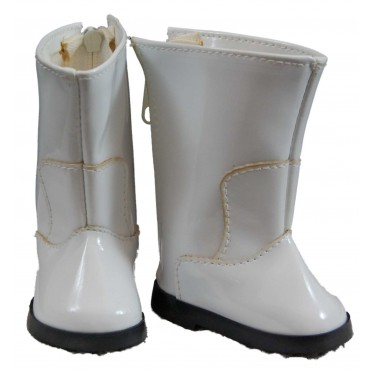 The Queens Treasures AGSWGG White Go Go Boot For 18 in. Dolls & American Girl TQST101