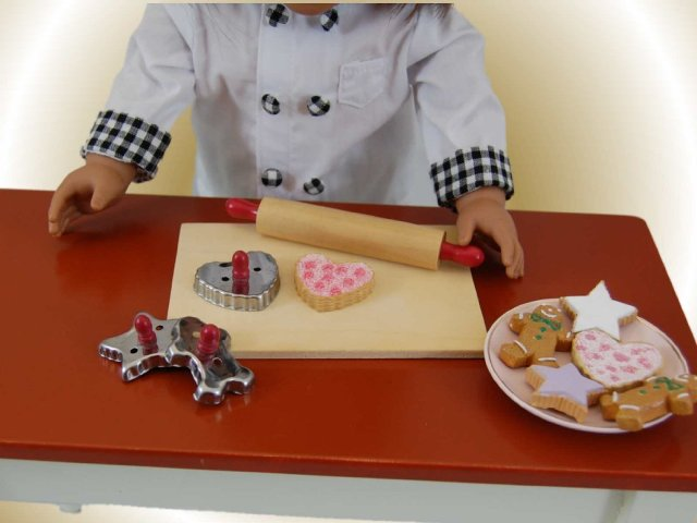 The Queens Treasures AGBSCA Cookie Baking Gift Set with Tools & Cookies for 18 in. Dolls
