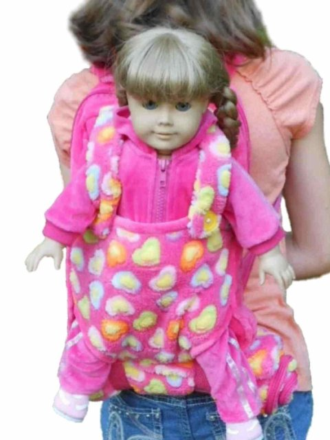 The Queens Treasures AGBCKP Childs Backpack with 18 in. Doll Carrier & Sleeping Bag, Pink