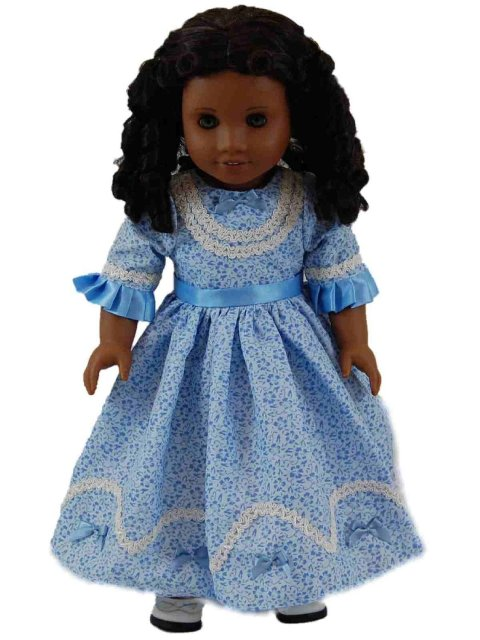 The Queens Treasures AGCBSD 1800s Style Sunday Dress, For 18 in. Dolls & American Girl