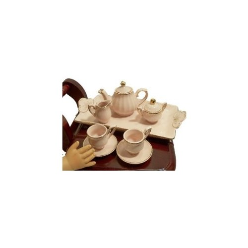The Queens Treasures AGMTSPI Princess Pink Fine China Tea Set Fits American Girl Doll TQST157