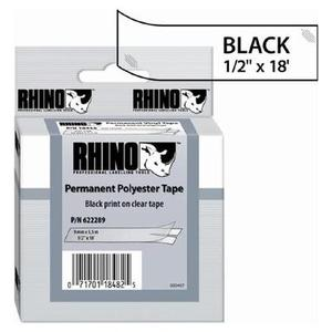 Dymo 622289 Dymo RhinoPro Thermal Label - 0.5 in. Width x 216 in. Length - Permanent - 1 Roll - Clear
