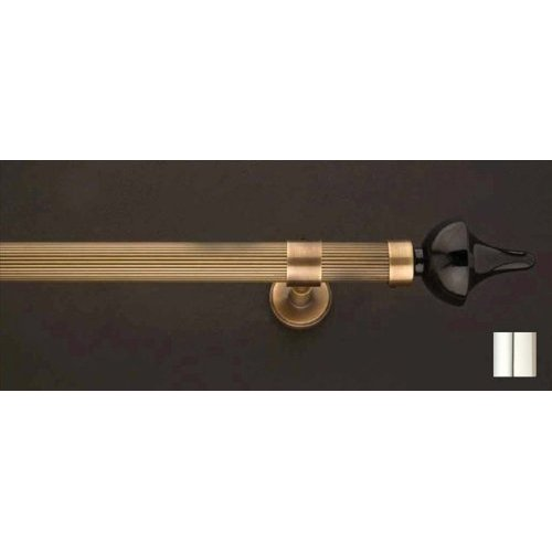 WinarT USA 8.1167.20.02.280 Flora 1167 Curtain Rod Set -.75 in. - Chrome - 110 in.